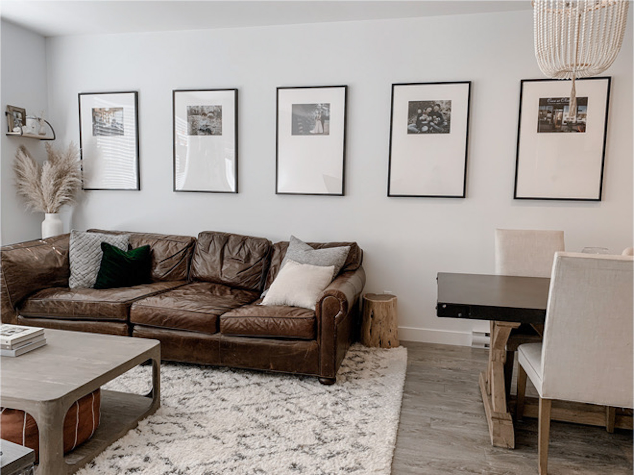 This oversized mat frame DIY looks so easy! I'm also loving the minimalist, natural home decor. #homedecor #decordiy #diy