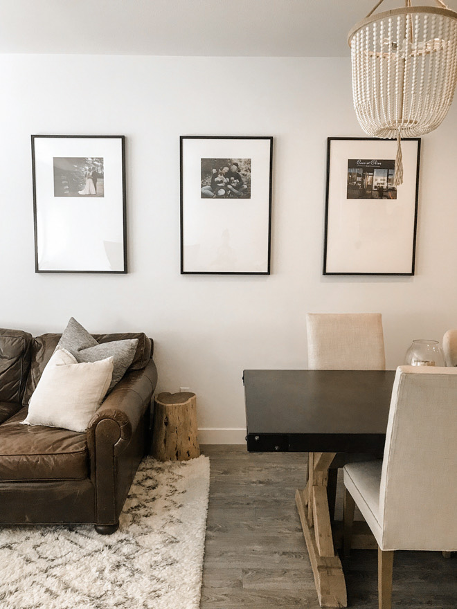 These oversized mat frames look just like the Pottery Barn versions but are a DIY! Such an easy way to elevate your living room or home. #diy #neutralhome