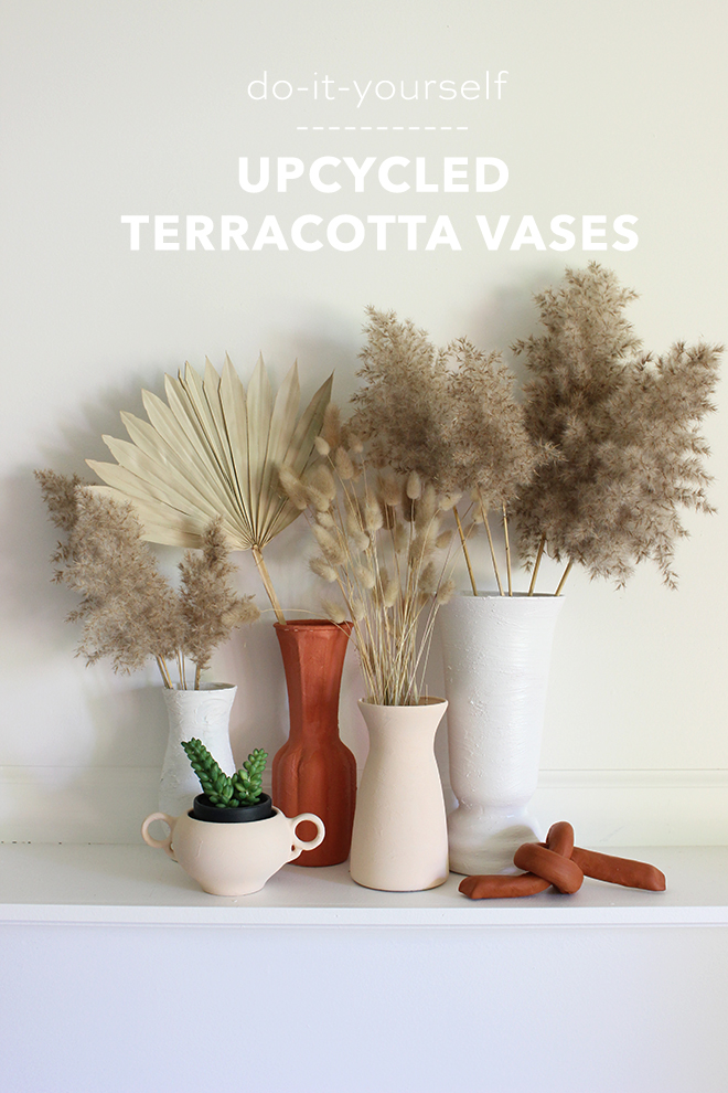 DIY terracotta vases!