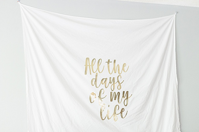WOW! Make this gold foil wedding tapestry at home with Cricut!