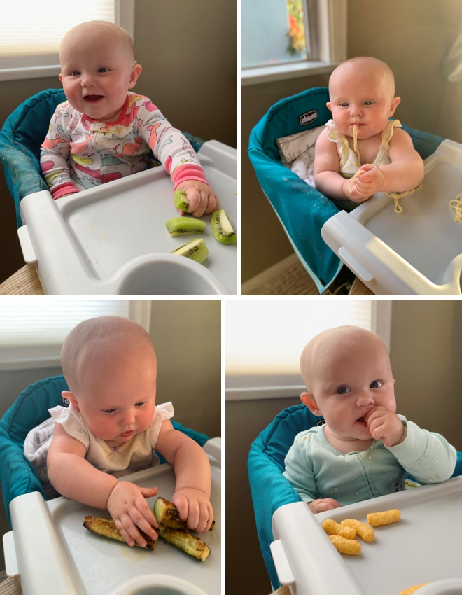 Here's an amazing list of foods and tips for Baby-led Weaning!