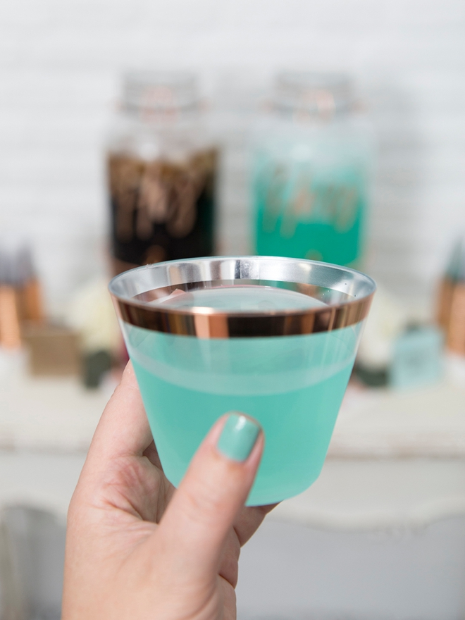 The most delicious turquoise cocktail you will find!