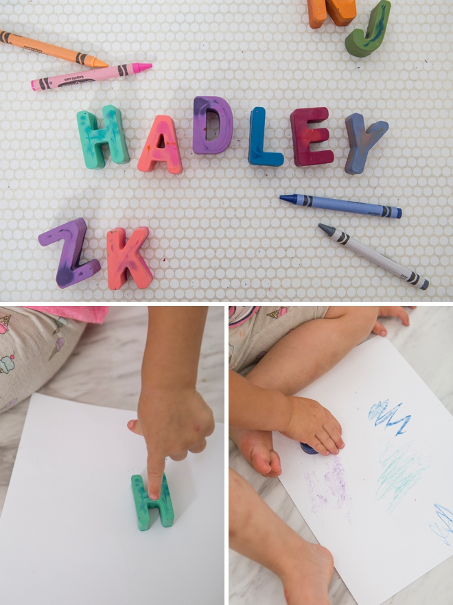 Melt down old crayons to turn them into these gorgeous alphabets!