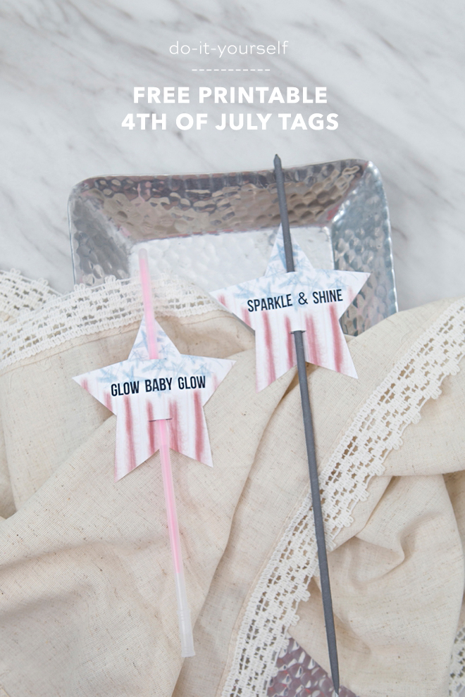 Free printable 4th of July tags!
