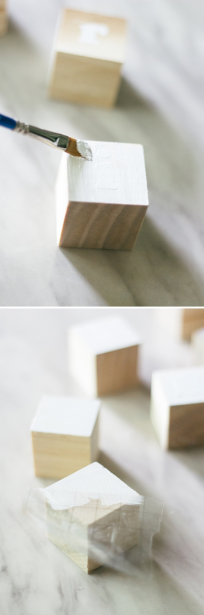 I love watching my baby learn to play every single day. Learn how to make these simple wood blocks on the blog!