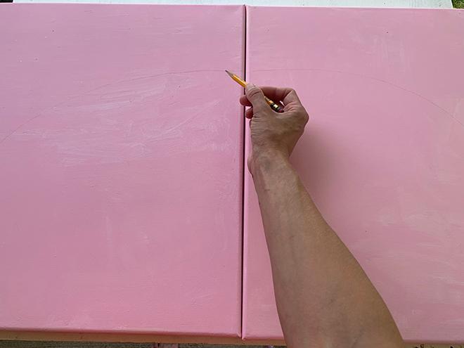 Check out this darling DIY rainbow wall art