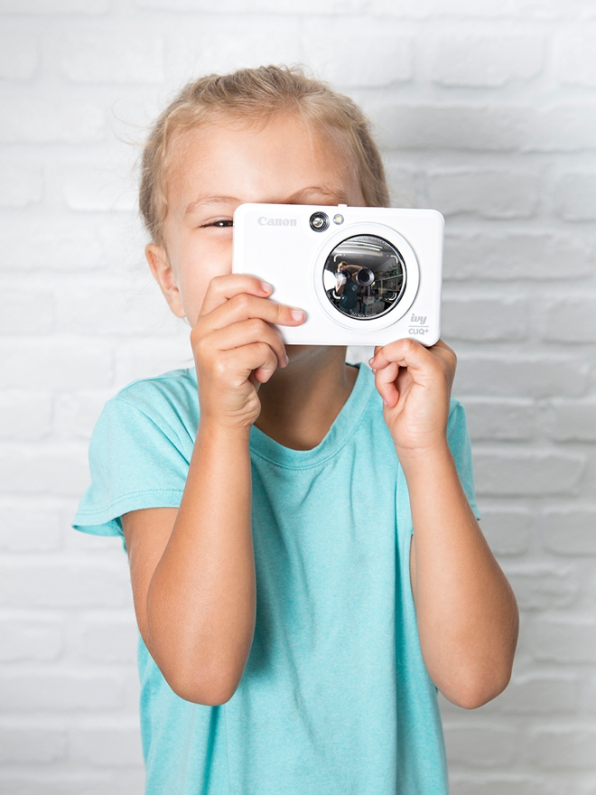 Kids absolutely love the new Canon IVY Cliq+ camera and sticker printer!