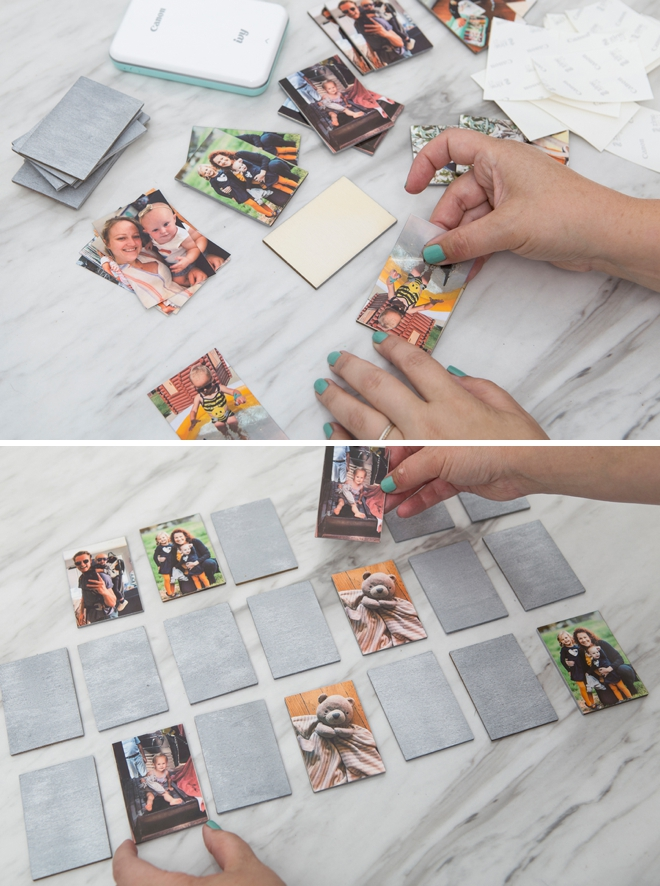 Use your Canon IVY mini printer to make the most adorable photo memory matching game!