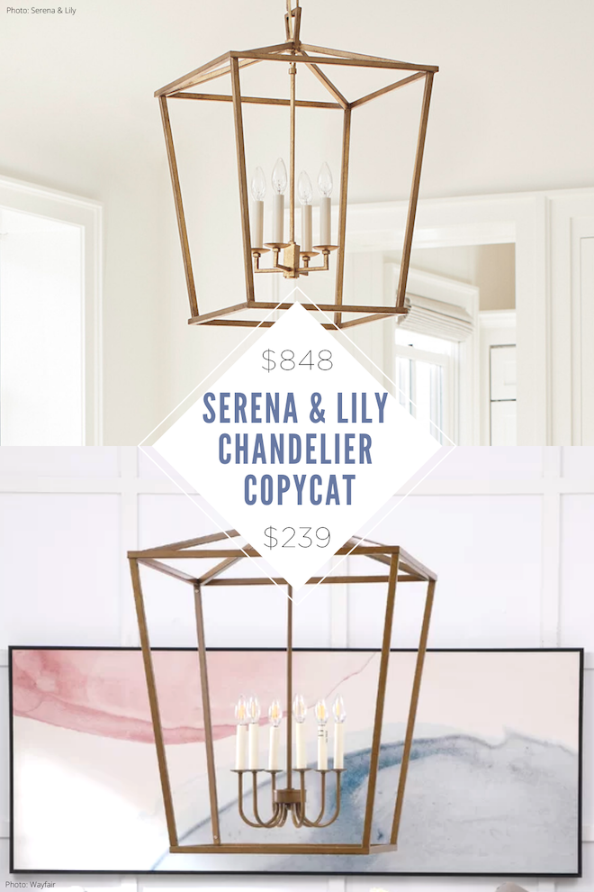 If you're looking for a lantern pendant, you NEED to see this. This Serena & Lily copycat light looks just like the real thing, but is way more affordable. I'm obsessed with pendant lighting in a kitchen or bathroom, and these lanterns come in black, silver, and gold. #pendant #design #decor #home #office #lighting #light #lantern #entryway