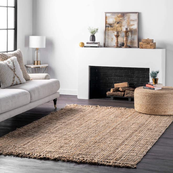 Is there anything better than a neutral, chunky, jute rug? Of course - a neutral, chunky, jute rug that's totally affordable. NuLoom is known for their stylish rugs at great prince-points, and this rug is all of those things. #jute #natural #neutral #decor #home #inspo #livingroom #area