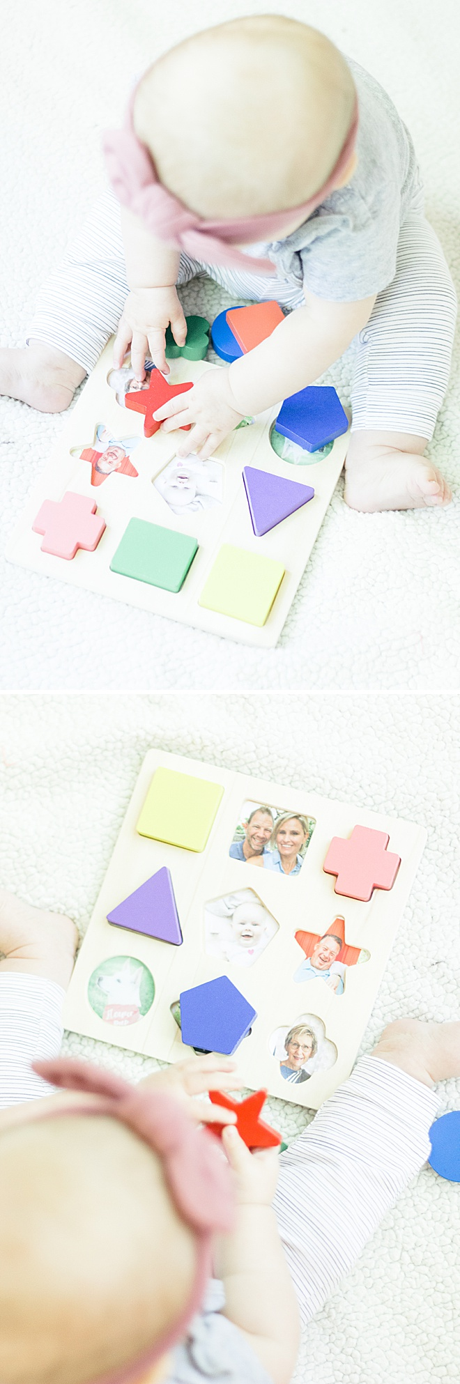 You may not be able to see your family right now but you still want your baby to know who they are. This personalized baby puzzle is perfect for a time like this.