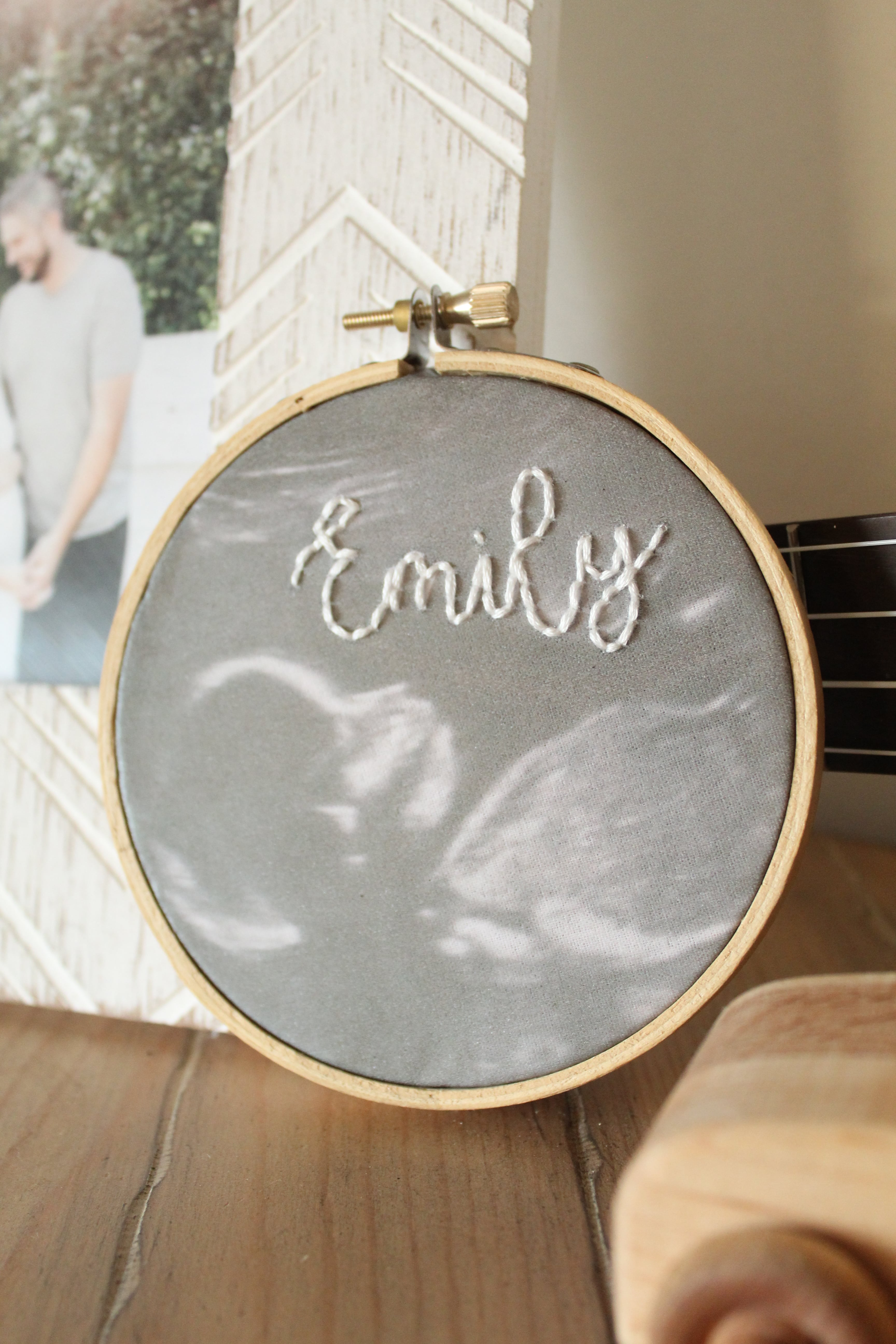 You don't want to miss this DIY Ultrasound Embroidery Hoop!