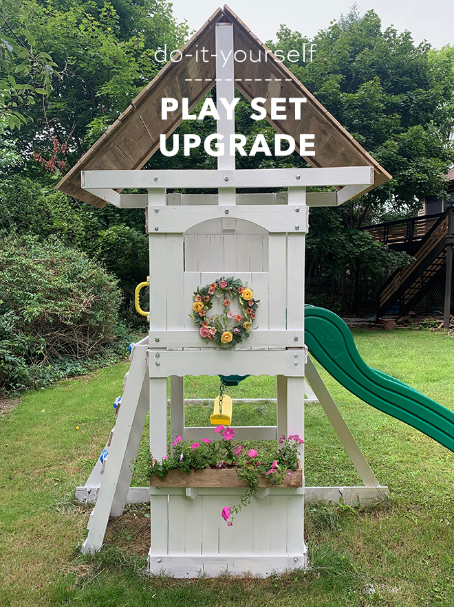 You have to see this darling DIY basic play set update!
