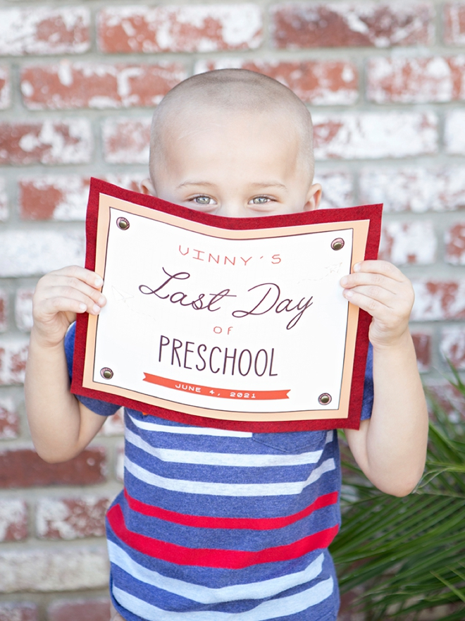 Adorable free editable Last Day of school signs, TK-12th grade!