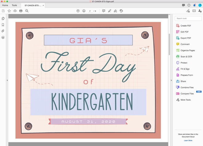 Adorable free editable First Day of school signs, TK-12th grade!