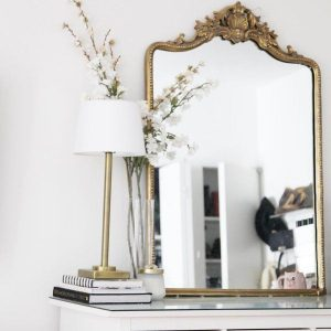 Finally! An Anthropologie Gleaming Primrose mirror copycat! I love this Persian-inspired mirror. #dupe #decor #home