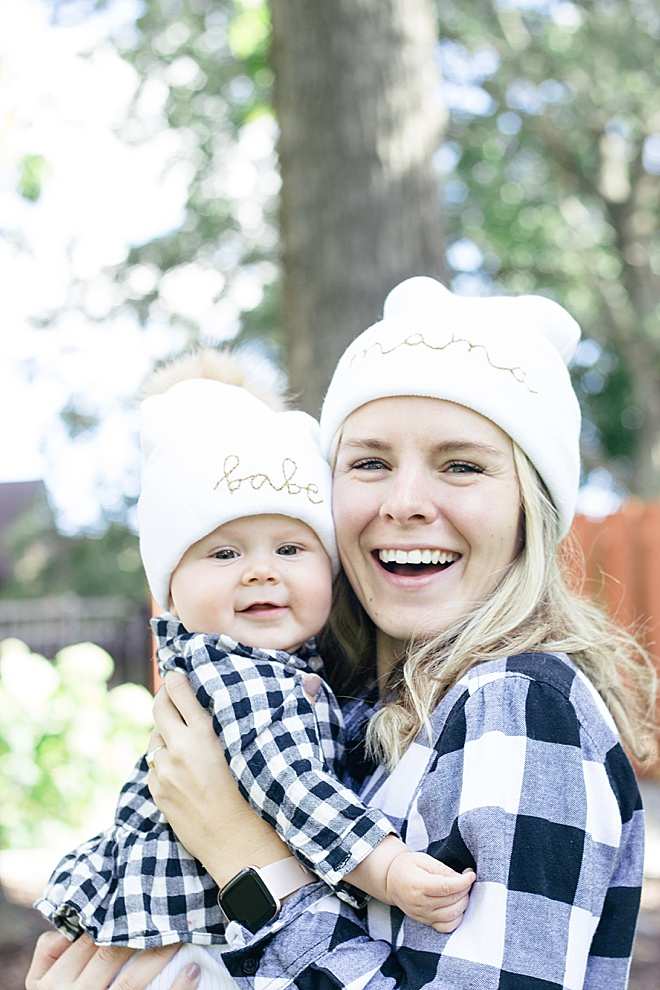These matching pom beanies are adorable and can be customizable. The tutorial today will teach you how to add a pom to a beanie and add mama and babe in embroidery floss.