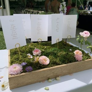 You have to see this DIY seating display, perfect for a garden wedding.