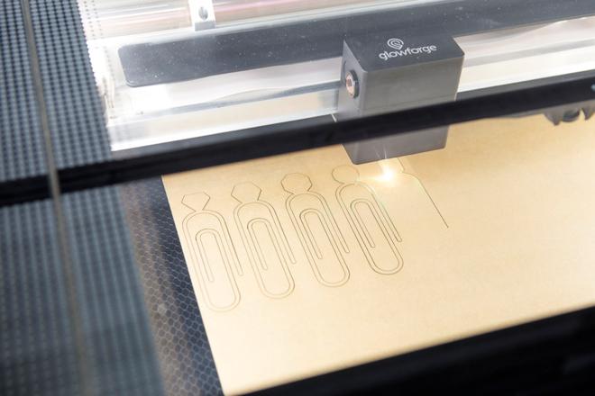 Custom Gemstone Paper Clip .SVG file made for laser printers!