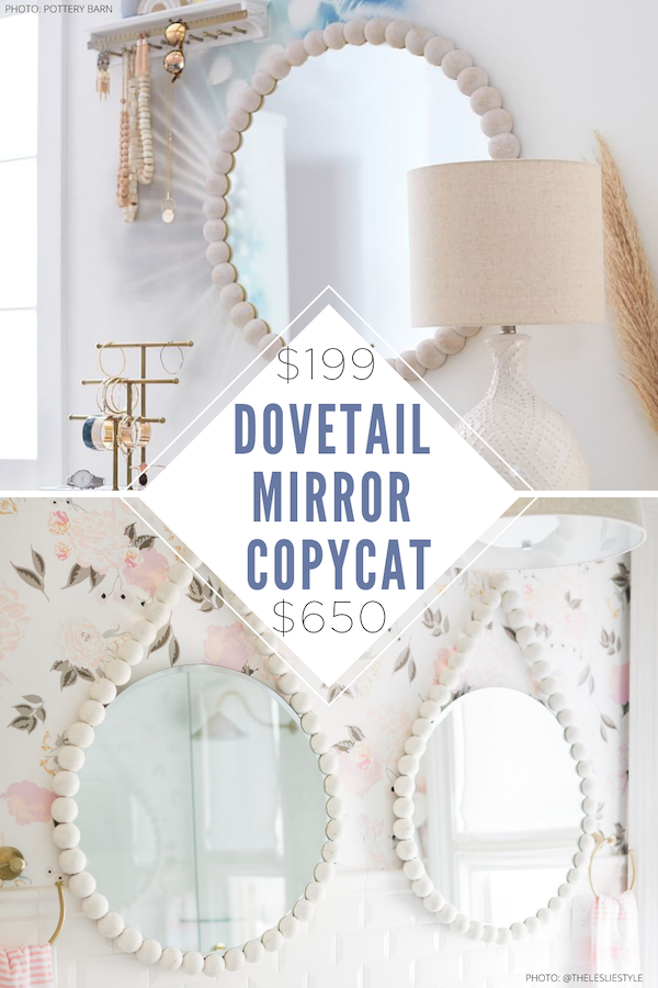 Yup! I found a Meadow Blu Dovetail Tess ball mirror copycat and it will save you hundreds! I've loved this feminine mirror forever and now I've found a more affordable dupe for it. It would look great in a living room, entryway, bedroom, or dining room. #design #interior #nursery #wall #wall #decor #home