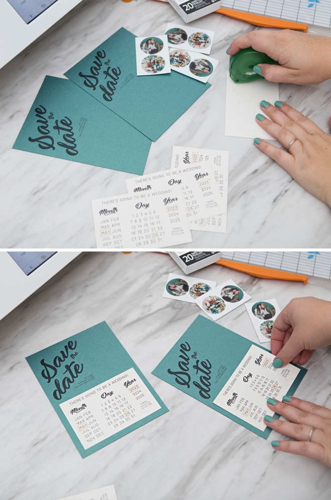 Free printable calendar-style Save the Date invitations!