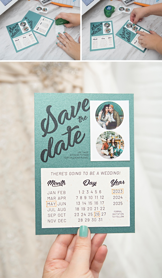 We used our new Canon IVY Cliq+ 2 to make these calendar-style Save the Dates!