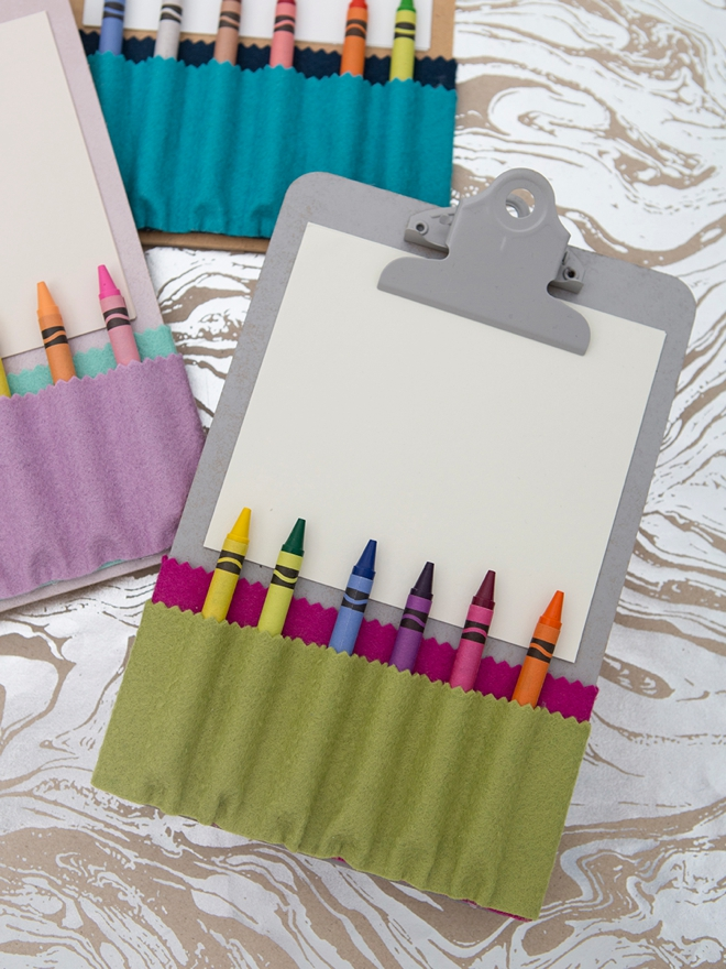 How to make a no-sew crayon holder with felt!