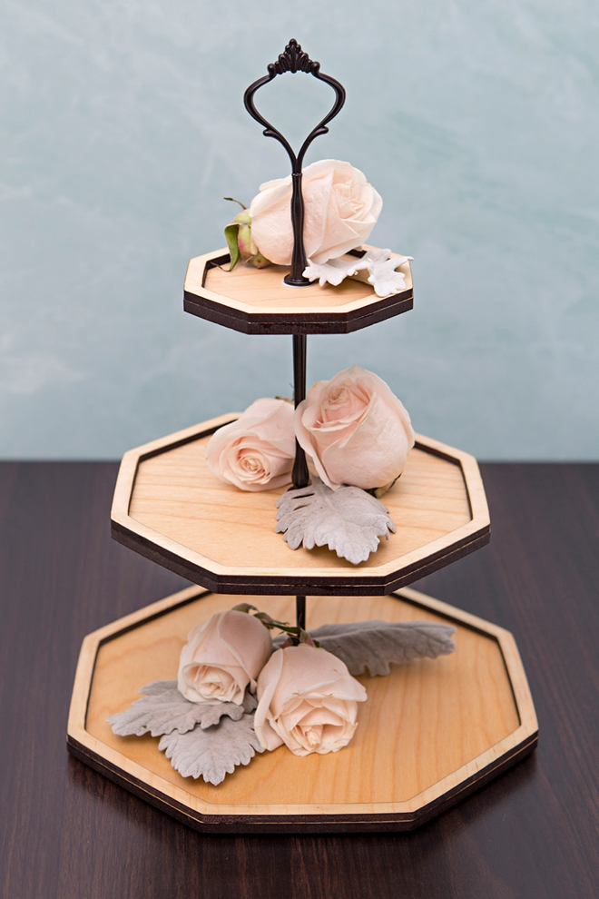 Make your own 3-tier decor trays with our custom SVG cut file!