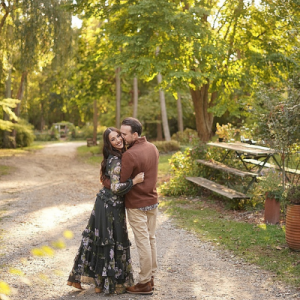 We are obsessed with this gorgeous and fun couple's engagement session!