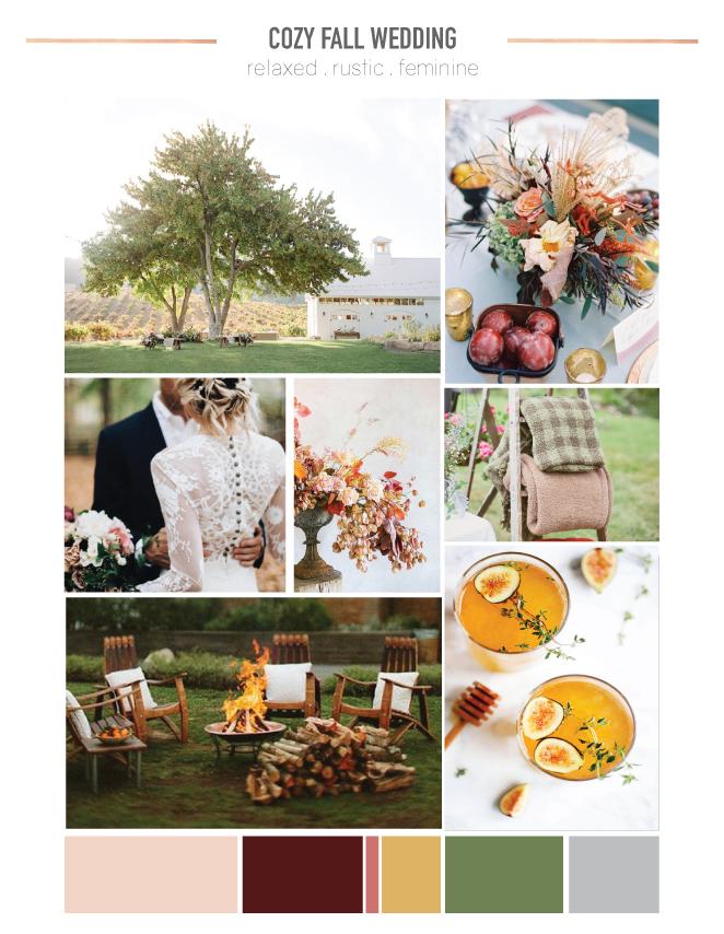 Relaxed Fall Wedding Mood Board