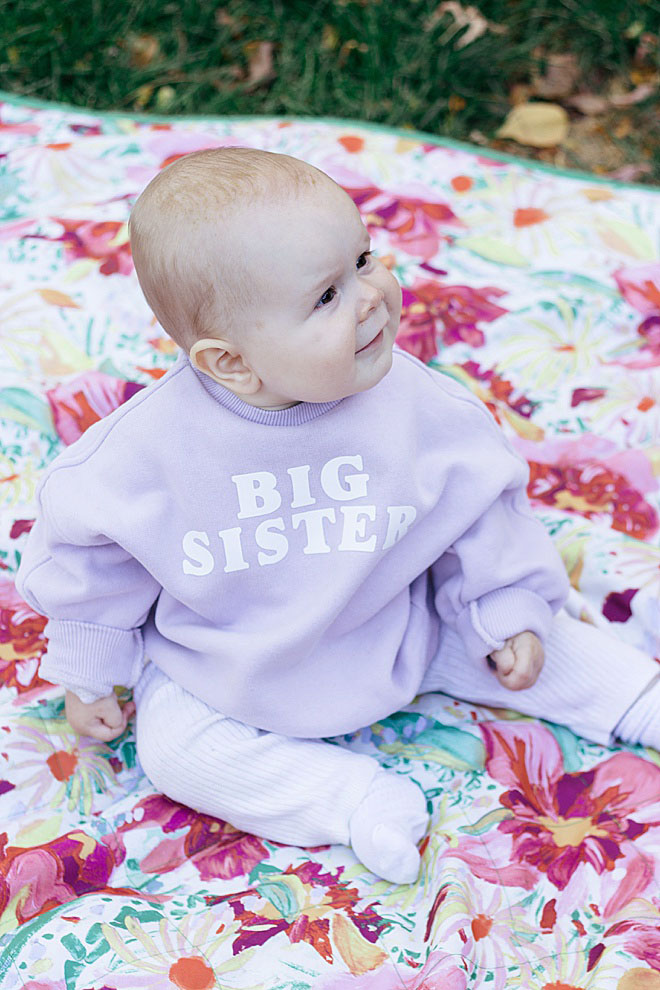 Is your family growing? Make this adorable pregnancy announcement sweatshirt for your soon-to-be big sibling!