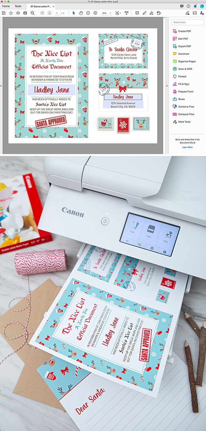 Free edit and print, Nice List Certificate from Santa!
