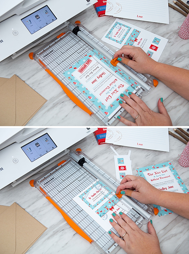 Free printable Santa Letter Suite with Canon PIXMA, nice list certificate too!