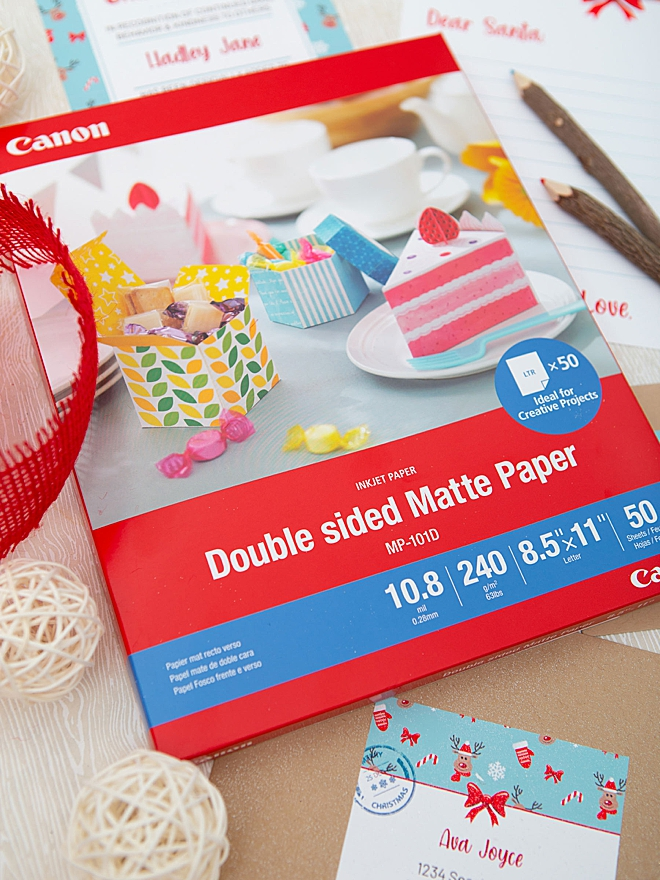 This new Double Sided Matte Photo Paper from Canon is the best!