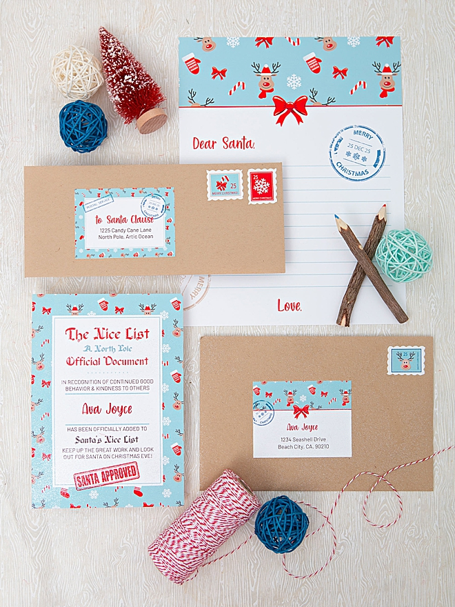 This darling Santa Letter Suite is FREE to print!