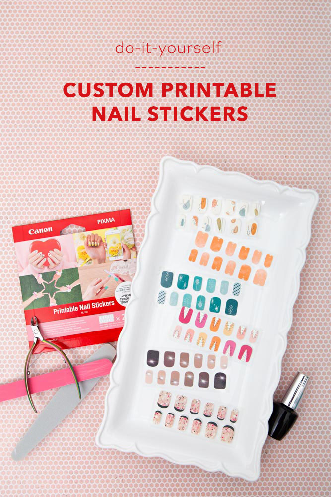 How to print your own nail stickers with Canon!