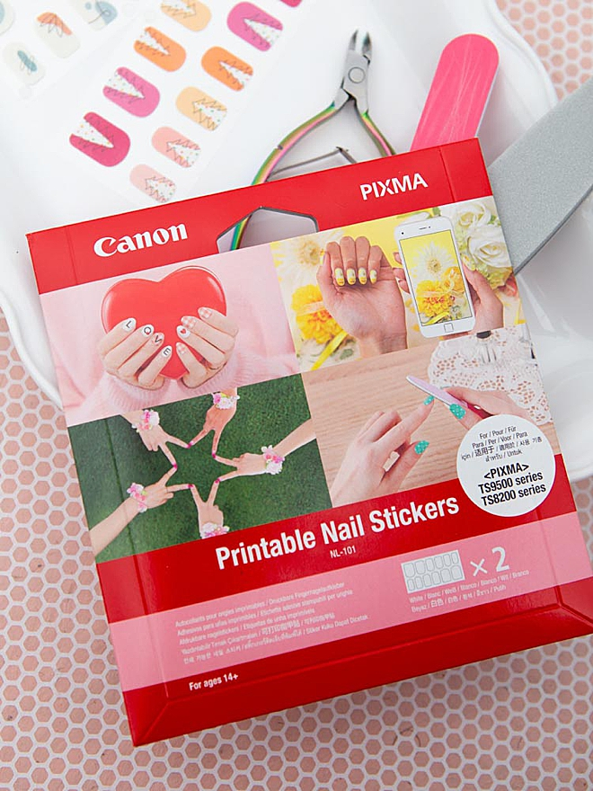 Canon's new Printable Nail Stickers are super awesome!