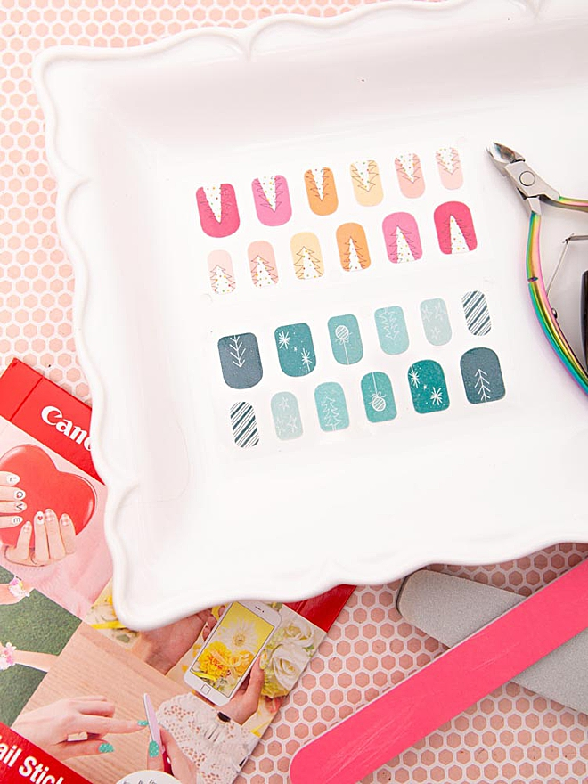 Learn how to make your own nail stickers!