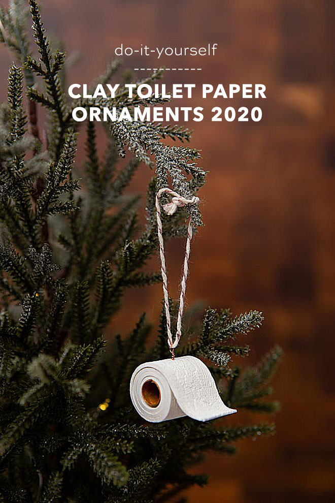 How to make clay toilet paper roll ornaments for 2020