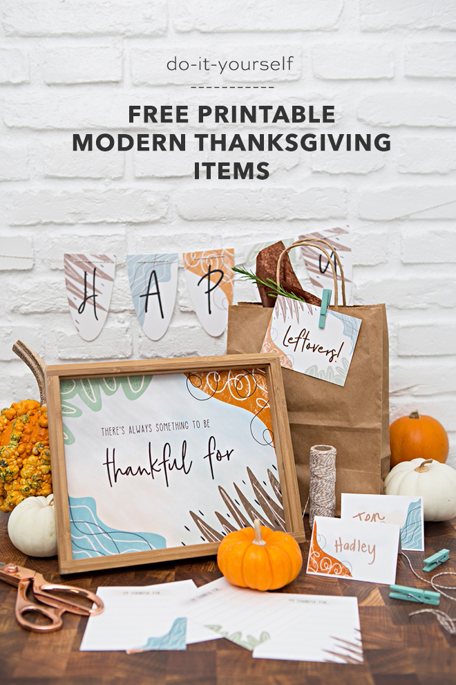 Print these modern Thanksgiving designs for free!