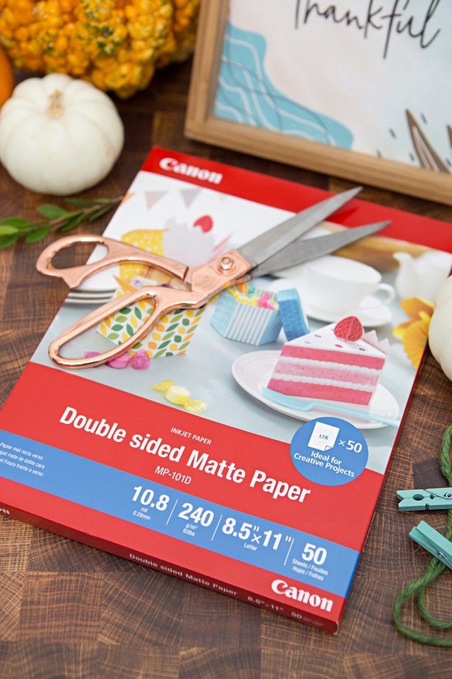 Canon Double Sided Matte Photo Paper is the best for crafting!