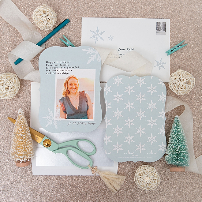 Something Turquoise holiday photo cards with Minted