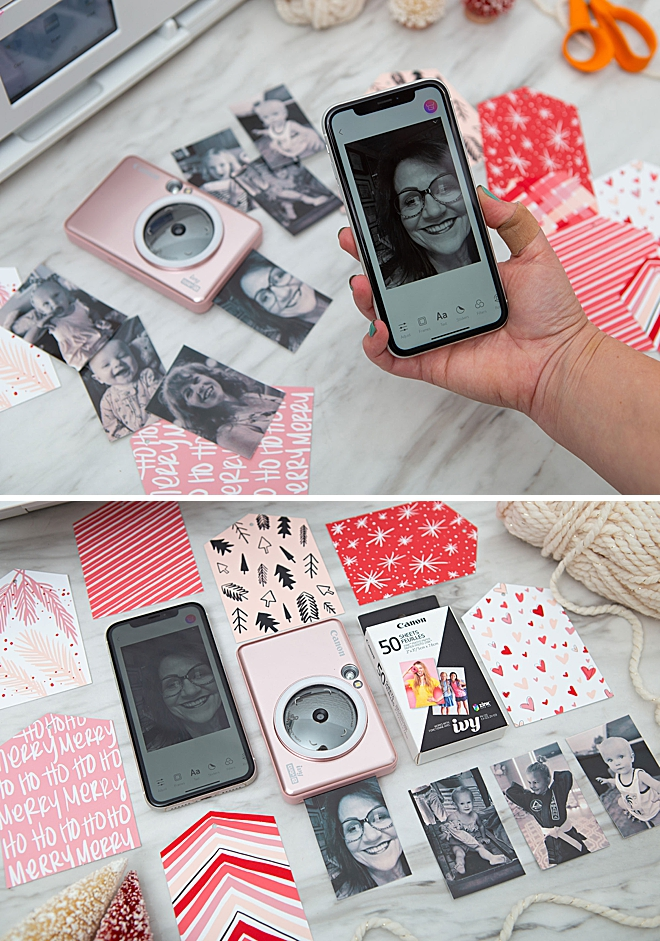 Free Printable, Photo Gift Tags For Christmas With Canon IVY