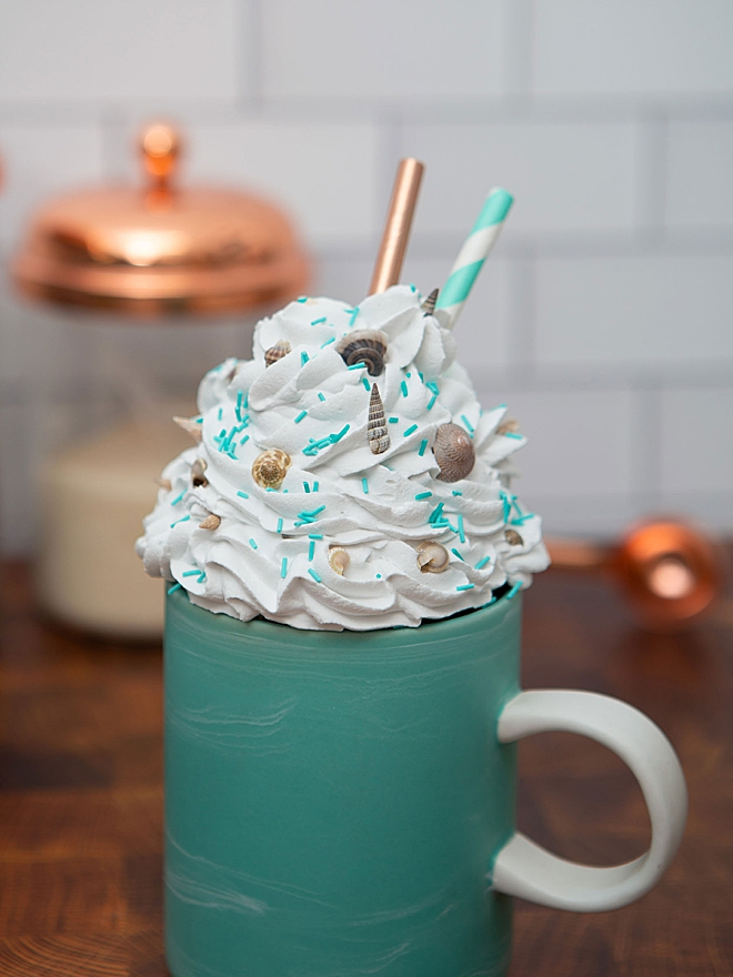 How to make faux whipped cream mug toppers!
