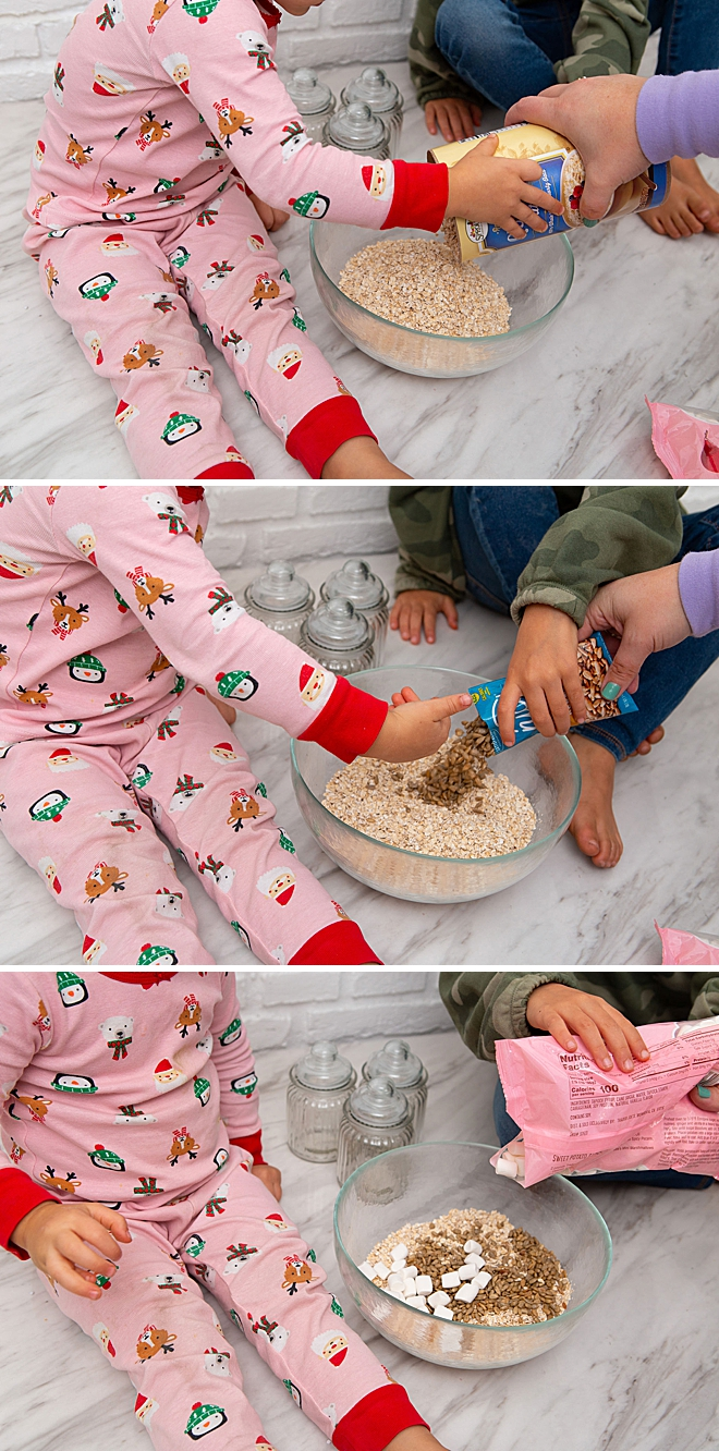 How to make kid safe Reindeer Food with carrot sprinkles!