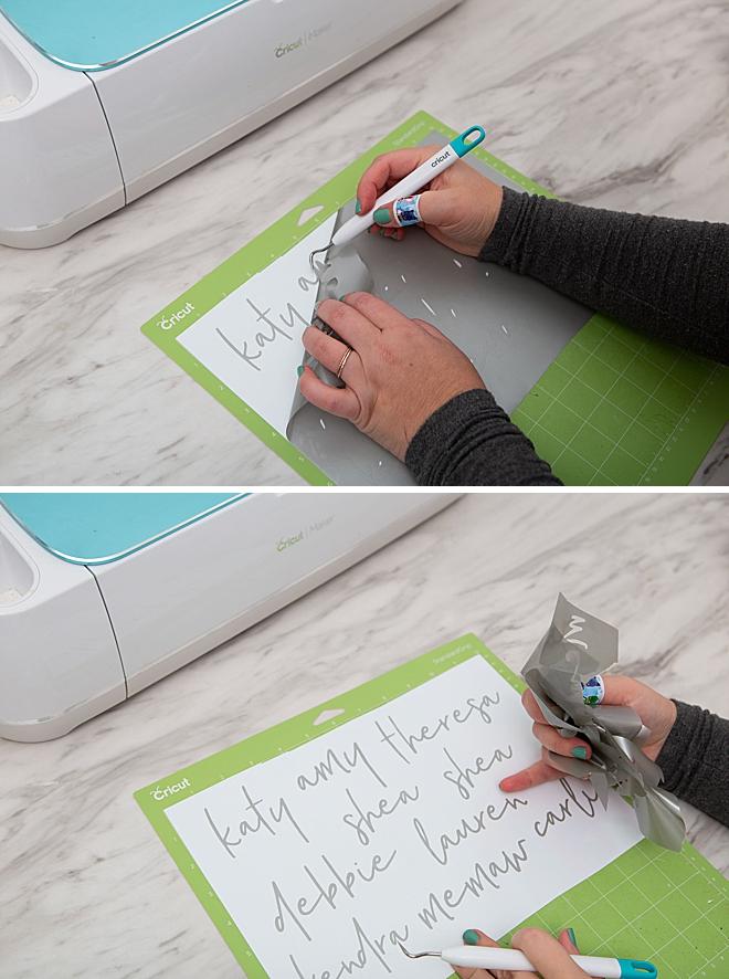 Make custom bridesmaids skinny tumblers using your Cricut!