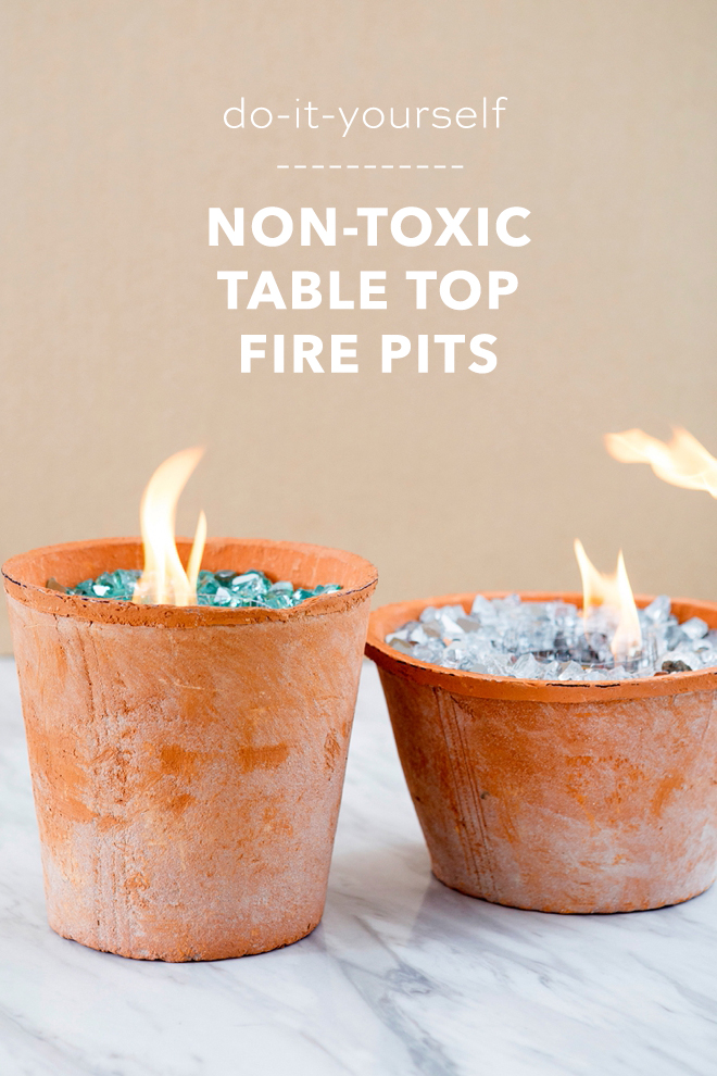 We LOVE our DIY table top fire pits to keep your home warm in the cooler months or to toast smores on! Don't miss this great DIY gift or fun quarantine activity idea!