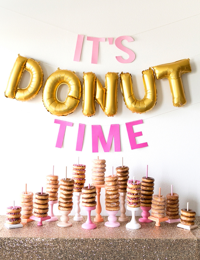 Everyone's favorite...donuts! Don't miss our DIY wedding donut dessert table to create your very own adorable dessert spread at your wedding or holiday party!