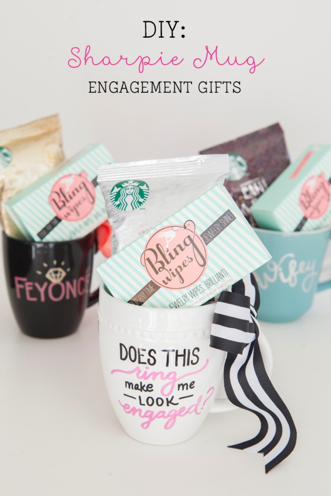 Looking for a cute DIY engagement gift or way to show those you love that you're engaged? Our DIY sharpie mug is the perfect engagement gift or DIY for yourself!
