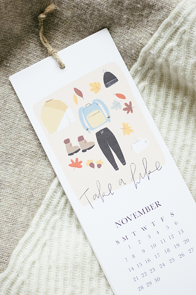 This DIY illustrated calendar will make you smile every month